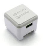 スマホ用USB充電コンセントアダプタ 3A ホワイト CHE-315WH [1ポート /Quick Charge対応]