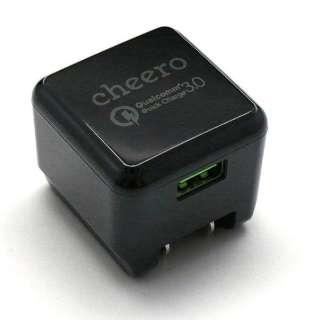 スマホ用USB充電コンセントアダプタ 3A (1ポート) CHE-315BK ブラック