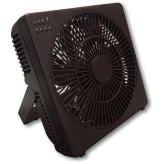 M7205-BR ボックス型扇風機 どこでもFAN(どこでもファン) ブラウン [DCモーター搭載]