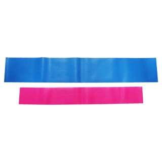 健康グッズ フィットネスチューブ ビューティーリングバンドセット(ソフト:ピンク、ハード:ブルー×各1本) 3B-3013