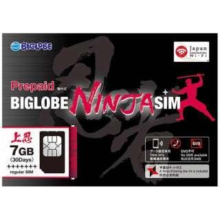 BIGLOBE NINJA SIM 標準SIM 7GB
