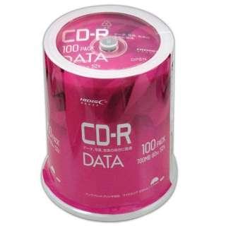 データ用CD-R Hi-Disc ホワイト VVDCR80GP100 [100枚 /700MB /インクジェットプリンター対応]