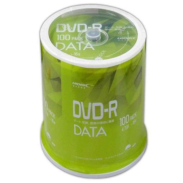 VVDDR47JP100 データ用DVD-R Hi-Disc ホワイト [100枚 /4.7GB /インクジェットプリンター対応]