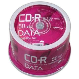 VVDCR80GP50 データ用CD-R Hi-Disc [50枚 /700MB /インクジェットプリンター対応]