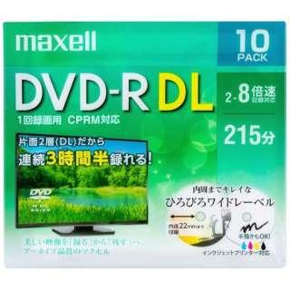 DRD215WPE10S 録画用DVD-R DL ホワイト [10枚 /8.5GB /インクジェットプリンター対応]