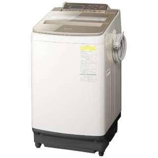 NA-FW100S5-T 縦型洗濯乾燥機 ブラウン [洗濯10.0kg /乾燥5.0kg /ヒーター乾燥(水冷・除湿タイプ) /上開き]