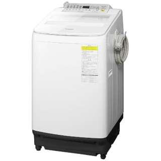 NA-FW80S5-W 縦型洗濯乾燥機 ホワイト [洗濯8.0kg /乾燥4.5kg /ヒーター乾燥(水冷・除湿タイプ) /上開き]