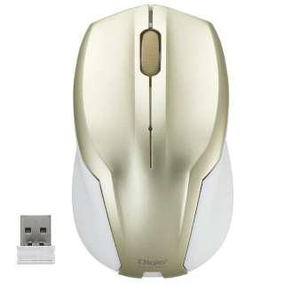 MUS-RKT125GL マウス Digio2 ゴールド [BlueLED /3ボタン /USB /無線(ワイヤレス)]