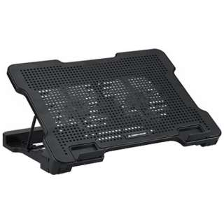 USB接続ノートPCクーラー 125mmファン 2基タイプ GH-PCFD2 ブラック