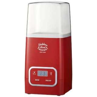 LOE037-RD 発酵フードメーカー(ヨーグルトメーカー) IDEA Label(イデアレーベル) レッド