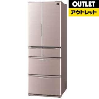 【アウトレット品】 SJ-XF47B-T 冷蔵庫 プラズマクラスター冷蔵庫 シャイニーブラウン [6ドア /観音開きタイプ /455L] 【外装不良品】