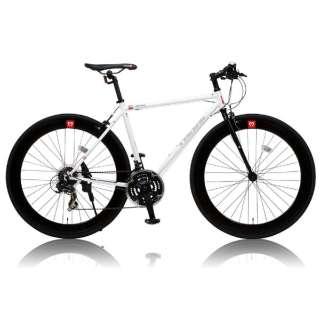 700×25C型 クロスバイク CANOVER CAC-024 HEBE ヘーべー(ホワイト/490サイズ《適応身長:160cm以上》) 25587 【組立商品につき返品不可】