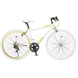 700×28C型 クロスバイク LIG MOVE (ホワイト/440サイズ《適応身長:155cm以上》) 19247 【組立商品につき返品不可】