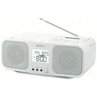 ラジカセ CFD-S401 ホワイト [ワイドFM対応 /CDラジカセ]