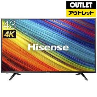【アウトレット品】 液晶テレビ [43V型 /4K対応] HJ43N3000  ヘアラインブラック 【生産完了品】