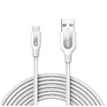 [micro USB]ケーブル 充電・転送 (3m・ホワイト)A8144021 [3.0m]
