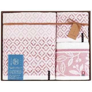 ギフトタオル おり織り(BT1・FT1・WT1) ピンク[生産完了品 在庫限り]