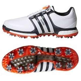 4643a6c5c Men s Golf Shoes TOUR360 BOA BOOST X (27.5cm  white X silver metallic X  core black) Q44967