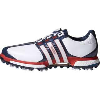 cc2bb23e9 Men s Golf Shoes TOUR360 BOA BOOST X (30.0cm white X power red X boyfriend  dieight navy) Q44968