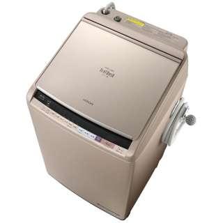 BW-DV100B-N 縦型洗濯乾燥機 ビートウォッシュ シャンパン [洗濯10.0kg /乾燥5.5kg /ヒーター乾燥(水冷・除湿タイプ) /上開き]