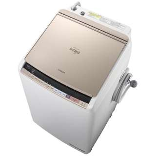 BW-DV80B-N 縦型洗濯乾燥機 ビートウォッシュ シャンパン [洗濯8.0kg /乾燥4.5kg /ヒーター乾燥(水冷・除湿タイプ) /上開き]