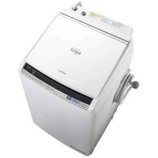 BW-DV80B-W 縦型洗濯乾燥機 ビートウォッシュ ホワイト [洗濯8.0kg /乾燥4.5kg /ヒーター乾燥(水冷・除湿タイプ) /上開き]
