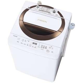 AW-6D6-T 全自動洗濯機 ZABOON(ザブーン) ブラウン [洗濯6.0kg /乾燥機能無 /上開き]