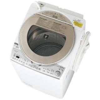 ES-TX8B-N 縦型洗濯乾燥機 ゴールド系 [洗濯8.0kg /乾燥4.5kg /ヒーター乾燥(排気タイプ) /上開き]