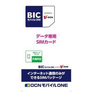 ナノSIM 「BIC モバイル ONE」 データ通信専用・SMS非対応 ドコモ対応SIMカード OCN017