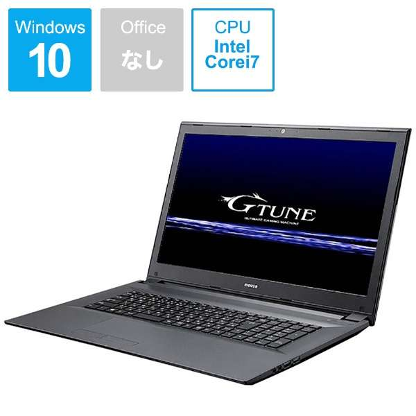 BC-GTUNEI77G5TN1 ゲーミングノートパソコン G-Tune [17.3型 /intel Core i7 /HDD:1TB /SSD:120GB /メモリ:8GB /2017年6月モデル]