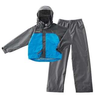 子供用 レインウエア LIPNER 透湿ジュニアレインスーツ エールジュニア(125~135cm/ブルー) 28656152