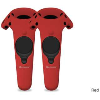 VR機器用シリコン保護ケース Gelshell Wand Silicone Skin for HTC VIVE (2pcs/pack)-Red M07201-RD レッド