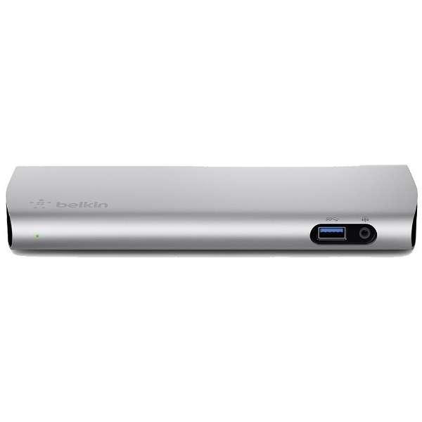 1m[USB-A オス→メス LAN / DisplayPort / USB-Ax2 / Thunderbolt 3(USB-C)x2 / φ3.5mm]4K対応 変換アダプタ  F4U095JA