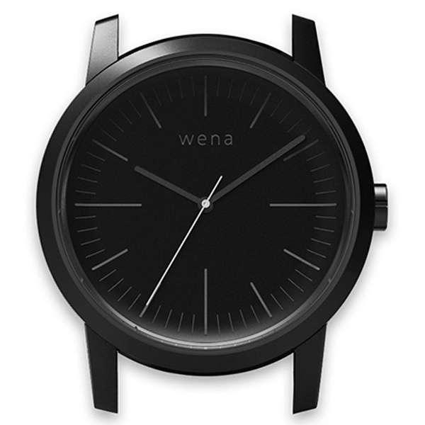 ハイブリッドスマートウォッチ wena wrist Three hands Premium Black Head WN-WT01B-H