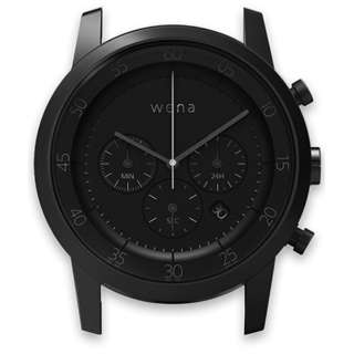 ハイブリッドスマートウォッチ wena wrist Chronograph Premium Black Head WN-WC01B-H