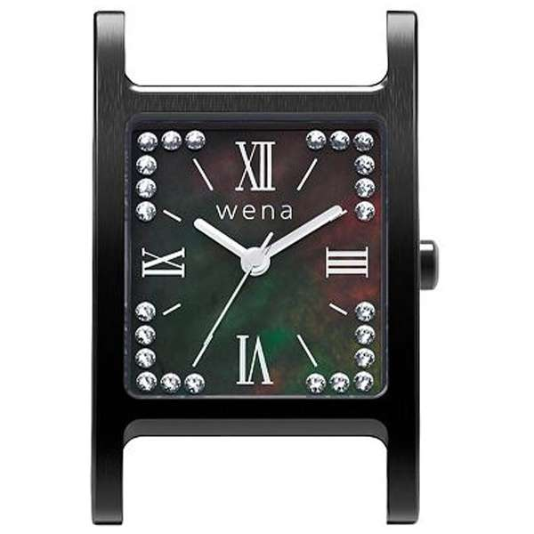 wena wrist交換用ヘッド 「wena wrist Square Premium Black -Crystal Edition- Head」 WN-WT12B-H