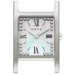 wena wrist交換用ヘッド Three Hands Square -Crystal Edition-Head Silver WN-WT12S-H