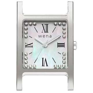 wena wrist交換用ヘッド 「wena wrist Square Silver -Crystal Edition- Head」 WN-WT12S-H