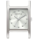 wena wrist交換用ヘッド Three Hands Square Head Silver WN-WT11S-H