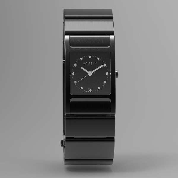 WN-WT11B ウェアラブル端末 wena wrist Square Premium Black ブラック