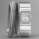 WN-WT12S ウェアラブル端末 wena wrist Square Silver -Crystal Edition- シルバー