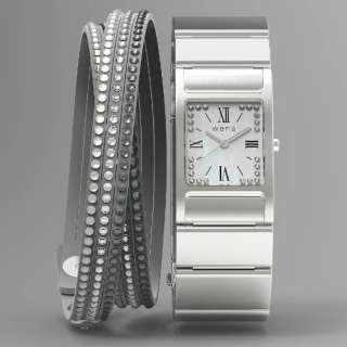 WN-WT12S ウェアラブル端末 wena wrist Square Silver -Crystal Edition- シルバー