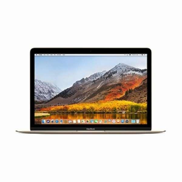 MacBook 12インチ[2017年/SSD 256GB/メモリ 8GB/1.2GHzデュアルコアCore m3]ゴールド MNYK2J/A