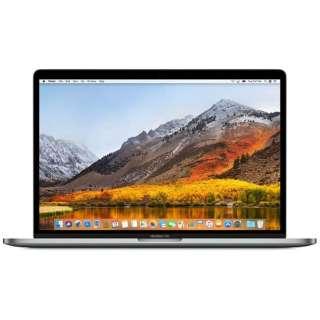 MacBookPro 15インチ Touch Bar搭載モデル[2017年/SSD 512GB/メモリ 16GB/2.9GHzクアッドコア Core i7]スペースグレイ MPTT2J/A