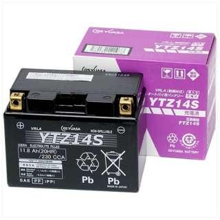 バイク用バッテリー 液入充電済ミ YTZ14S