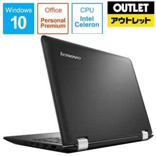【アウトレット品】 11.6型ノートPC [Office付・Celeron・eMMC 32GB・メモリ 2GB] Ideapad (アイデアパッド )300S 80KU00C2JP エボニーブラック 【生産完了品】