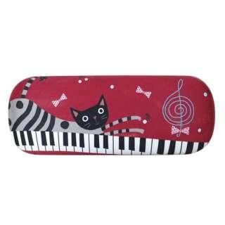 ノアファミリー ハード クロス付きメガネケース(ピアノキャット)J487 PC