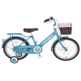 18型 幼児用自転車 ルイスアミューズキッズ18(ターコイズブルー/シングル) 【組立商品につき返品不可】