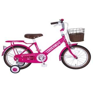 18型 幼児用自転車 ルイスアミューズキッズ18(ピンク/シングル) 【組立商品につき返品不可】