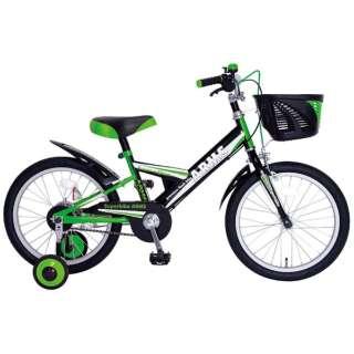 18型 幼児用自転車 アームスキッズ18(グリーン/シングル) 【組立商品につき返品不可】